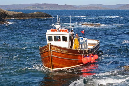 Iolaire of Iona, the boat which takes visitors to Staffa